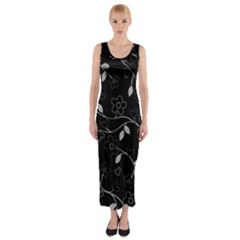 Floral Pattern Fitted Maxi Dress by Valentinaart