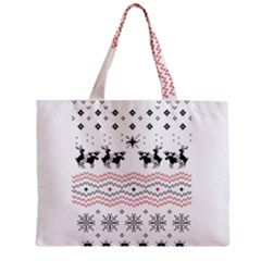 Ugly Christmas Humping Zipper Mini Tote Bag by Onesevenart
