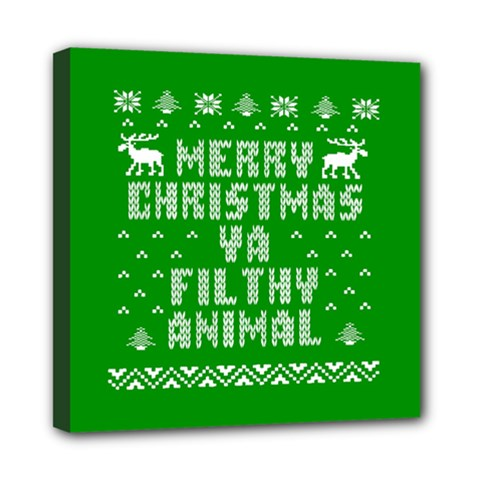 Ugly Christmas Sweater Mini Canvas 8  X 8  by Onesevenart
