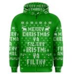 Ugly Christmas Sweater Men s Zipper Hoodie