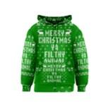 Ugly Christmas Sweater Kids  Zipper Hoodie