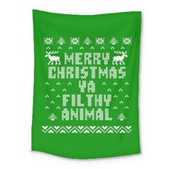 Ugly Christmas Sweater Medium Tapestry by Onesevenart
