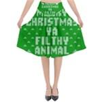Ugly Christmas Sweater Flared Midi Skirt