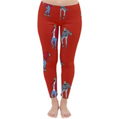 Drake Ugly Holiday Christmas Classic Winter Leggings by Onesevenart