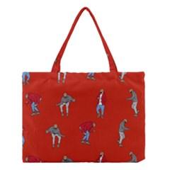 Drake Ugly Holiday Christmas Medium Tote Bag by Onesevenart