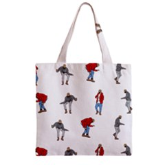 Drake Ugly Holiday Christmas Zipper Grocery Tote Bag by Onesevenart