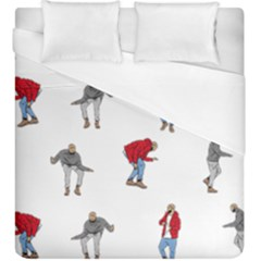 Drake Ugly Holiday Christmas Duvet Cover (king Size) by Onesevenart