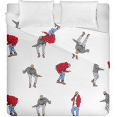 Drake Ugly Holiday Christmas Duvet Cover Double Side (king Size) by Onesevenart