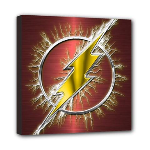 Flash Flashy Logo Mini Canvas 8  X 8  by Onesevenart