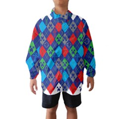 Minecraft Ugly Holiday Christmas Wind Breaker (kids) by Onesevenart