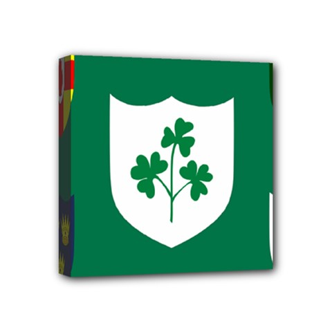 Ireland National Rugby Union Flag Mini Canvas 4  X 4  by abbeyz71