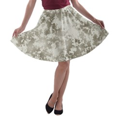 Wall Rock Pattern Structure Dirty A-line Skater Skirt