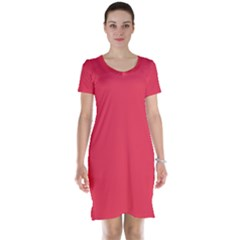 Neon Color   Brilliant Amaranth Short Sleeve Nightdress by tarastyle
