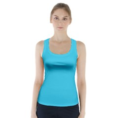 Neon Color   Brilliant Arctic Blue Racer Back Sports Top by tarastyle
