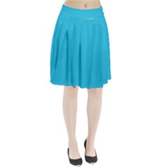 Neon Color   Brilliant Arctic Blue Pleated Skirt by tarastyle
