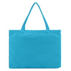Neon Color   Brilliant Arctic Blue Medium Zipper Tote Bag by tarastyle