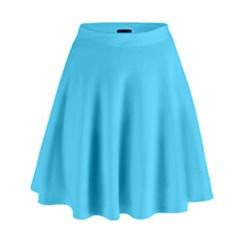 Neon Color   Brilliant Cerulean High Waist Skirt by tarastyle