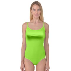 Neon Color   Brilliant Charteuse Green Camisole Leotard  by tarastyle