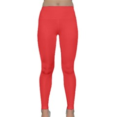 Neon Color - Brilliant Red Classic Yoga Leggings by tarastyle