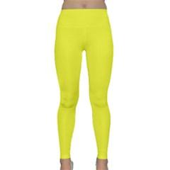 Neon Color   Brilliant Yellow Classic Yoga Leggings by tarastyle