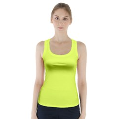 Neon Color   Light Brilliant Apple Green Racer Back Sports Top by tarastyle