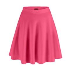 Neon Color   Light Brilliant Crimson High Waist Skirt by tarastyle