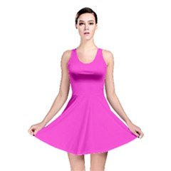 Neon Color   Light Brilliant Fuchsia Reversible Skater Dress by tarastyle