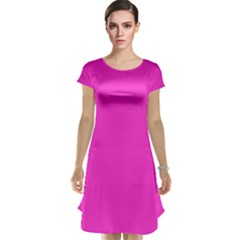 Neon Color   Light Brilliant Fuchsia Cap Sleeve Nightdress by tarastyle