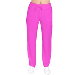 Neon Color - Light Brilliant Fuchsia Drawstring Pants by tarastyle