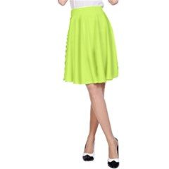 Neon Color   Light Brilliant Lime Green A Line Skirt by tarastyle