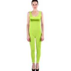 Neon Color   Light Brilliant Lime Green Onepiece Catsuit by tarastyle