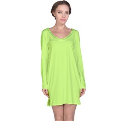 Neon Color   Light Brilliant Spring Bud Long Sleeve Nightdress by tarastyle