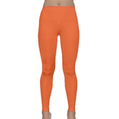 Neon Color - Light Brilliant Vermilion Classic Yoga Leggings by tarastyle