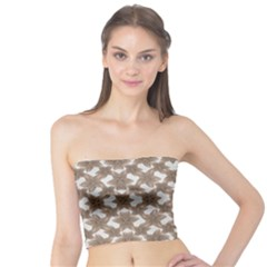 Stylized Leaves Floral Collage Tube Top by dflcprintsclothing