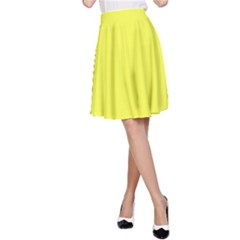 Neon Color   Light Brilliant Yellow A Line Skirt by tarastyle