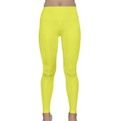 Neon Color - Light Brilliant Yellow Classic Yoga Leggings by tarastyle
