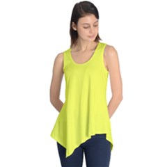 Neon Color   Light Brilliant Yellow Sleeveless Tunic by tarastyle