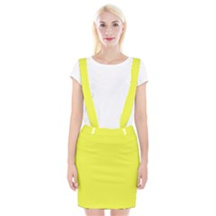 Neon Color - Light Brilliant Yellow Braces Suspender Skirt by tarastyle