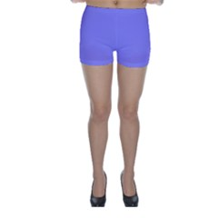 Neon Color - Light Persian Blue Skinny Shorts by tarastyle