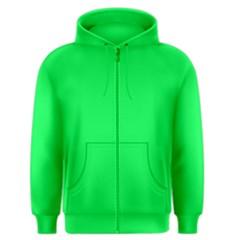 Neon Color   Luminous Vivid Malachite Green Men s Zipper Hoodie by tarastyle