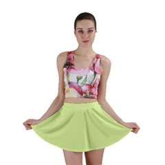 Neon Color   Pale Lime Green Mini Skirt by tarastyle