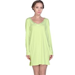 Neon Color   Pale Lime Green Long Sleeve Nightdress by tarastyle