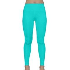 Neon Color   Vivid Cyan Classic Yoga Leggings by tarastyle
