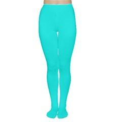 Neon Color - Vivid Cyan Women s Tights by tarastyle