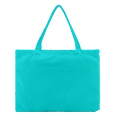 Neon Color   Vivid Cyan Medium Tote Bag by tarastyle