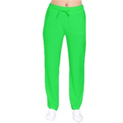 Neon Color - Vivid Malachite Green Drawstring Pants by tarastyle
