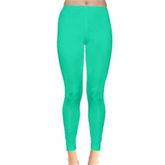 Neon Color   Vivid Turquoise Leggings  by tarastyle