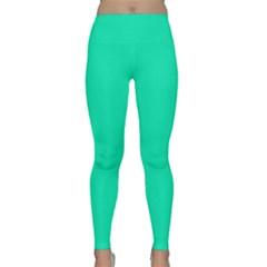 Neon Color   Vivid Turquoise Classic Yoga Leggings by tarastyle