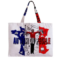 Marine Le Pen Medium Zipper Tote Bag by Valentinaart