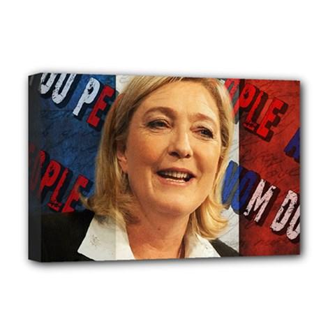 Marine Le Pen Deluxe Canvas 18  X 12   by Valentinaart